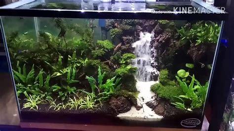 membuat aquarium aquascape mini waterfall aquascape tank 35 35 60 airterjunpasir