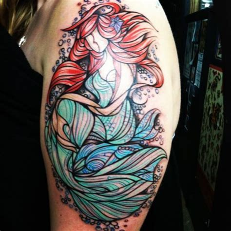 little mermaid tattoos this is a the coolest stained glass design i