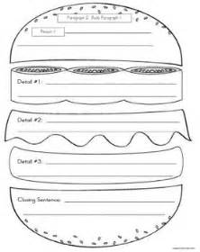 Burger Writing Template by Persuasive Writing Graphic Organizer 5 Paragraph Format