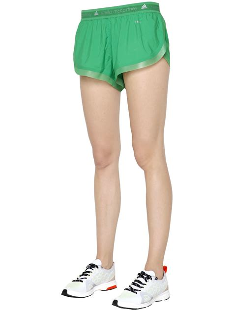 Adidas Stella Mc Cartney Running Shorts 1 adidas by stella mccartney adizero running shorts in green lyst