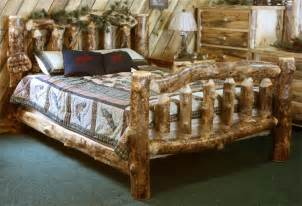 aspen log furniture aspen log bed