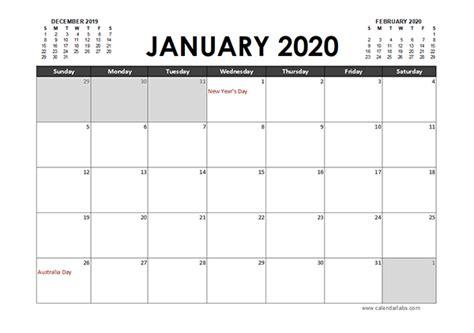excel calendar planner australia  printable templates