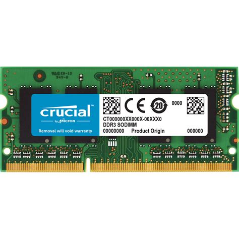 Ram Ddr3 Pc3 10600 crucial 8gb 204 pin sodimm ddr3 pc3 10600 memory ct8g3s1339m b h