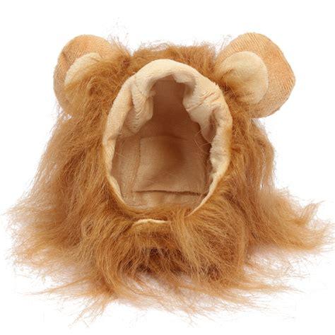 lions maken s pet dog cat artificial lion mane wig halloween costume