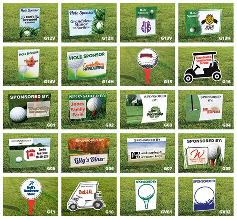 Golf Signs Tee Signs Tournament Sponsor Signs Amtek Signs Golf Sponsor Sign Template
