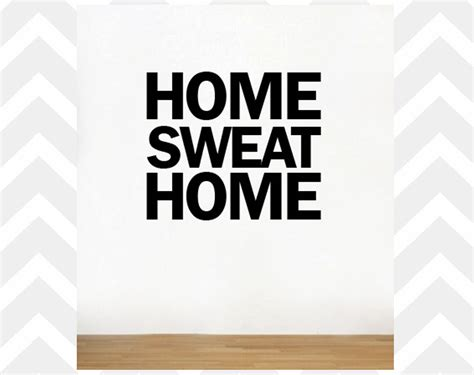 Work Out Home Gym Decor Wall Decal Wall Border No Pain No | home sweat home gym wall decal health fitness work out gym