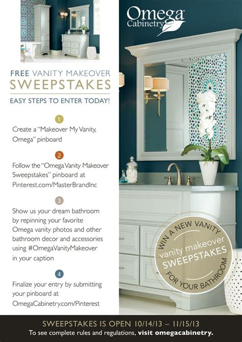 bathroom makeover contest 27 best images about omega vanity makeover sweepstakes on
