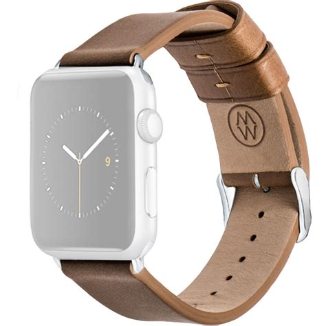 Apple Hoco Leather Band Crocodile Pattern 42mm Brown monowear brown leather band for 42mm apple mw ltbr22 mtsi