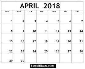 Calendar 2018 With Holidays Uk April 2018 Calendar Printable Template With Holidays Pdf