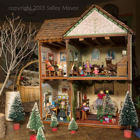 dollhouse decorated for christmas dollhouse decorated for holidays at highfield salley mavor