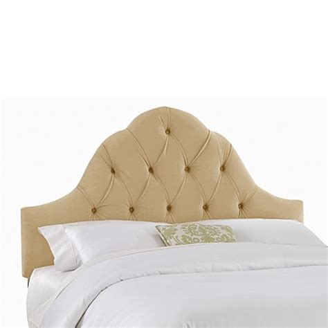 tufted arch headboard skyline arch tufted headboard in velvet buckwheat bed