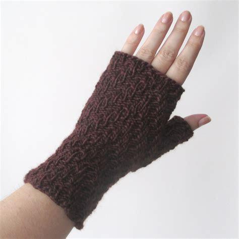fingerless knit gloves updated knit pattern herringbone rib fingerless gloves