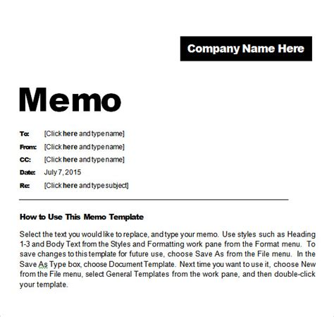 Memorandum Template In Word Sle Confidential Memo 7 Documents In Pdf Word
