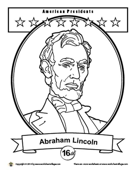 george washington s portrait coloring page