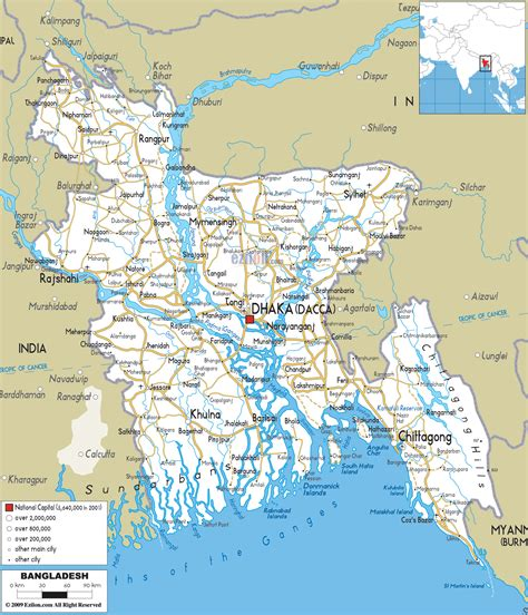 Detailed Clear Large Road Map of Bangladesh   Ezilon Maps