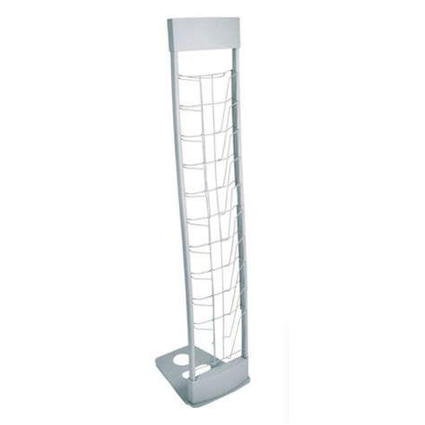 Portable Literature Rack   10 up deluxe A4 Literature Holder