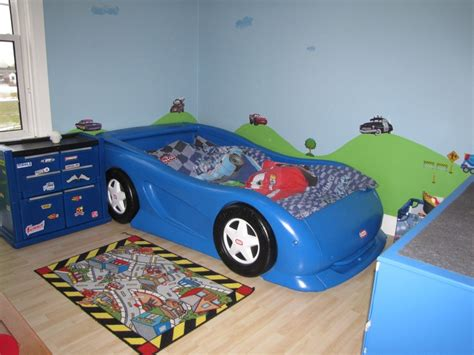 toddler car beds for boys boys race car themed room twin size little tikes car bed and chest cars movie wall