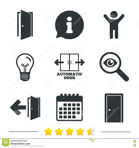 emergency exit icons door with arrow sign stock vector doors signs emergency exit with arrow symbol stock