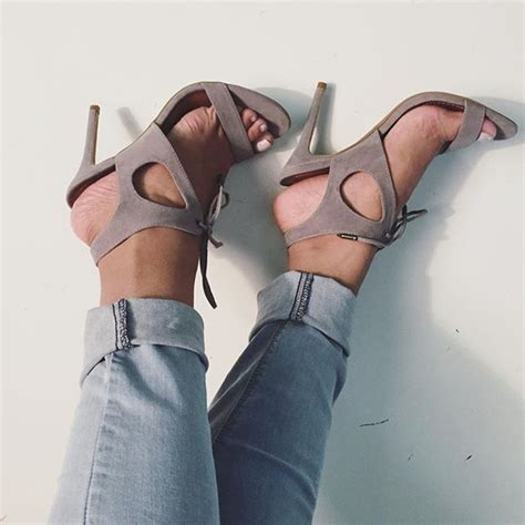 Found Ports Chic Cut Out Pumps by Grey Faux Suede Cut Out Lace Up Single Sole Heels