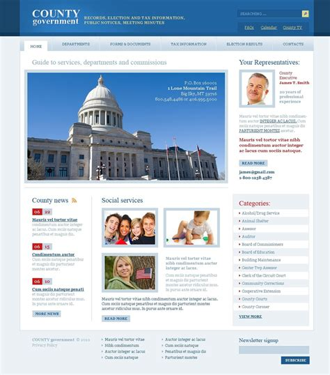 free templates for government website government psd template 56157