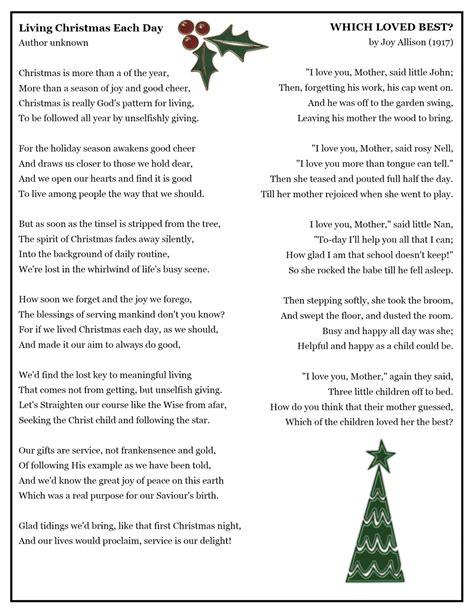 printable christmas nail poem visiting teaching surprise christmas service booklet
