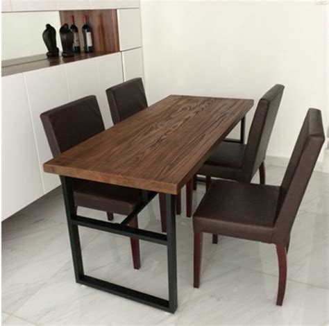 Wrought Iron Dining Room Chairs busana retro besi tempa meja kayu dan kursi kombinasi