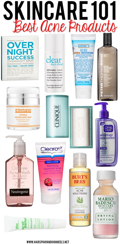 Top Treatment Best Acne Products On Drugstore Skincare Best