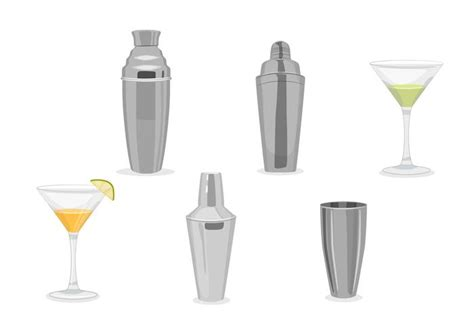 Cocktail Shaker Vectors Free Vector Stock