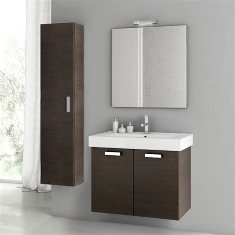 28 Inch Wenge Bathroom Vanity Set Contemporary Bathroom Vanities And Sink Consoles