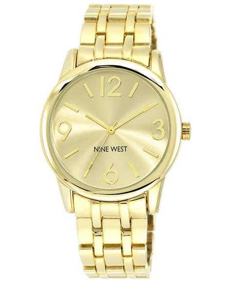nine west s gold tone adjustable bracelet 39mm