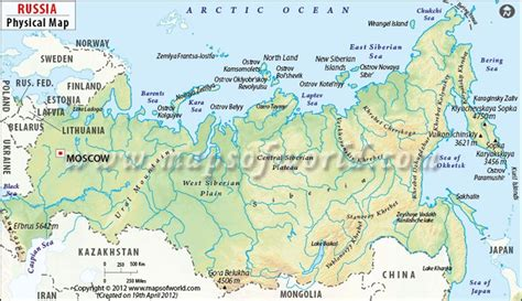 russia and europe physical map russia study mbbs in russia