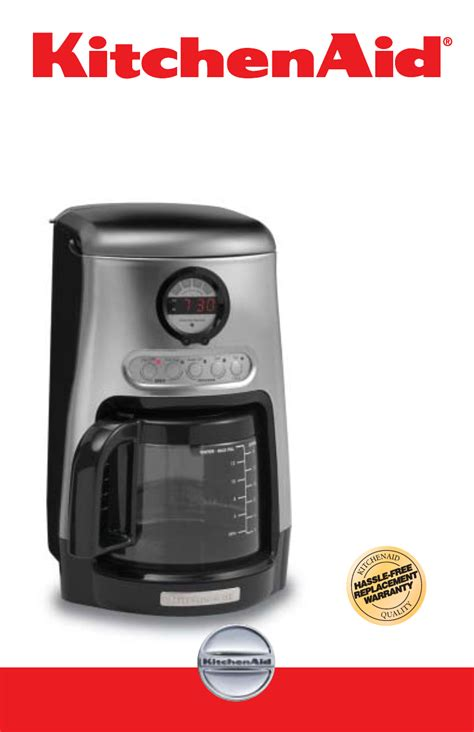 Coffee Maker Manual kitchenaid kitchenaid coffee maker manual
