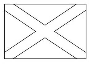 flag to colour template free coloring pages of scottish flag