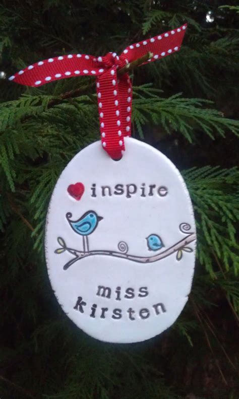 inspire personalized christmas tree ornament teacher by