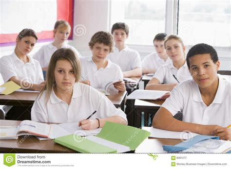 Exles For Highschool Students high school students in class stock image image 6081277