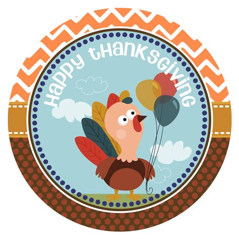 printable thanksgiving stickers turkey happy thanksgiving stickers for party favor labels