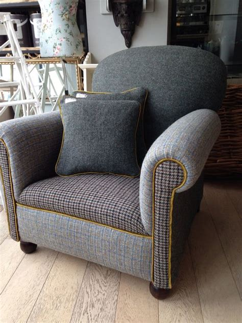 harris tweed armchair vintage harris tweed cocktail armchair by