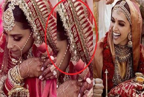 deepika padukone ki shadi ki pic deepika padukone wears chunari in wedding written
