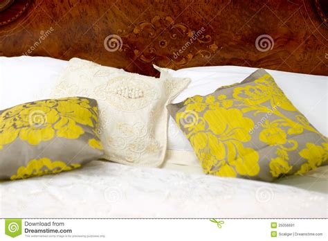 nice pillows for bed nice pillows on a bed stock image image 25056691