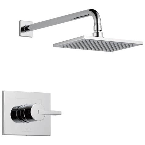 delta t14253 vero single handle tub shower faucet chrome