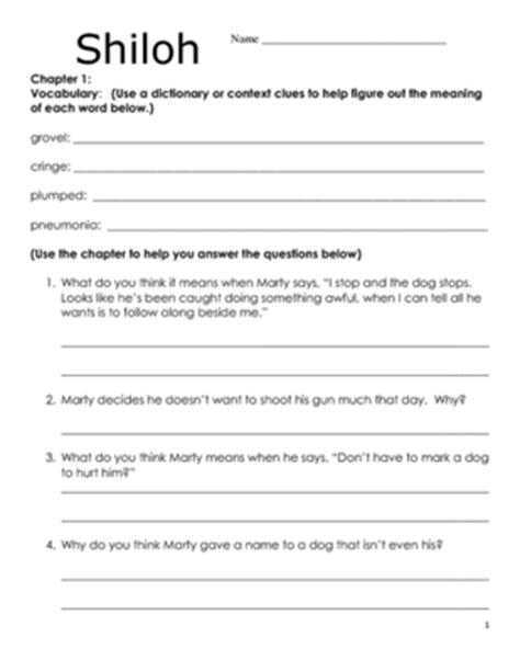 shiloh book report shiloh worksheets wiildcreative
