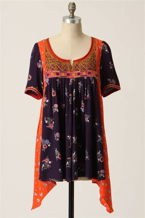 Anthropologie Patchwork Dress - embroidered patchwork tunic anthropologie sold
