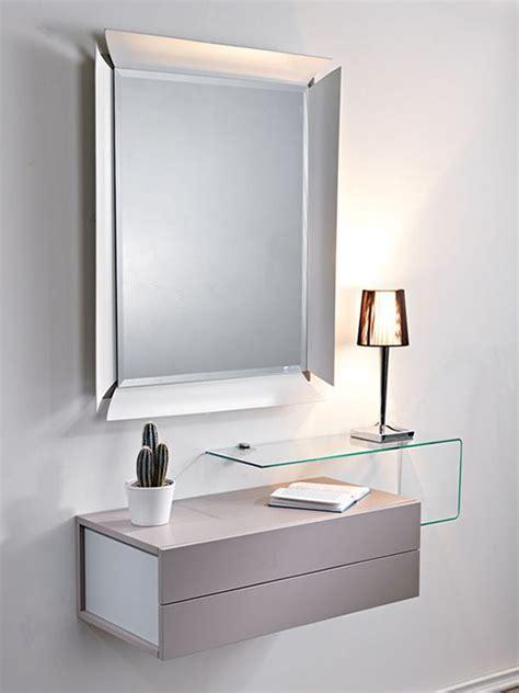 mobile d ingresso moderno due mobile ingresso con 2 cassetti specchio e mensola
