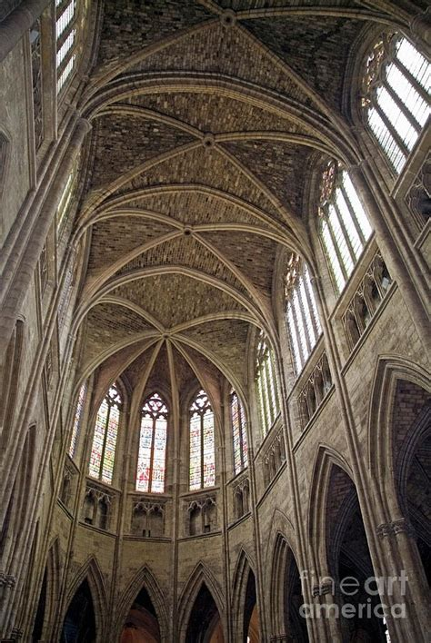 cathedral ceilings pictures vaulted ceilings and stained glass windows of saint andre