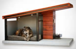 this modern dog house is designed to fit your home s