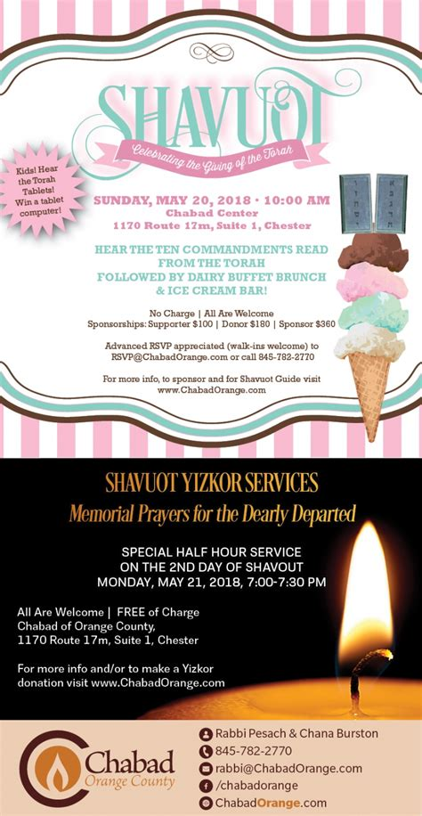 Shavuot Celebration Chabad Of Orange County