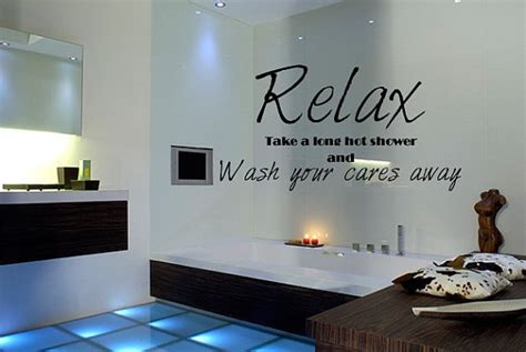 french word bathroom wall decal quote relax bathroom shower from whimsywalldecals on