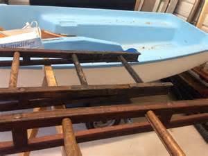 2 vintage dept truck wooden truss ladders 25