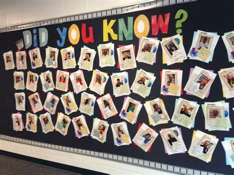 new year facts soft school bulletin board did you facts about staff put