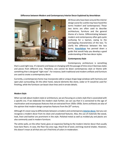 difference between decor and interior design difference between modern and contemporary edininfo